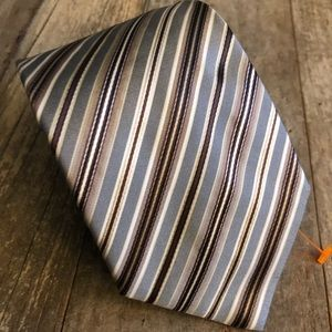 Hugo Boss Stripe Tie -Fit for a Stockbroker! NWOT!